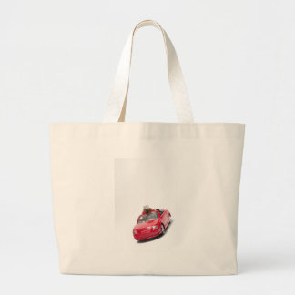 red sports car with a diamond ring canvas bag