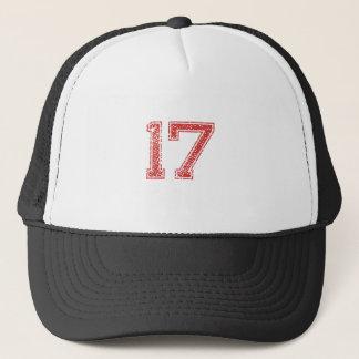 Red Sports Jerzee Number 17 Trucker Hat
