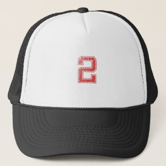 Red Sports Jerzee Number 2 Trucker Hat