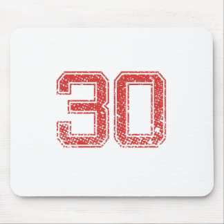 Red Sports Jerzee Number 30 Mouse Pad