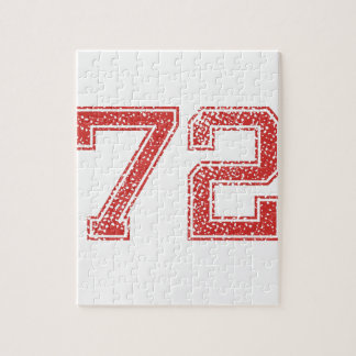Red Sports Jerzee Number 72 Puzzle
