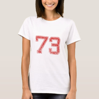 Red Sports Jerzee Number 73 T-Shirt