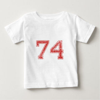 Red Sports Jerzee Number 74 Baby T-Shirt