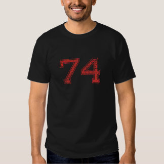 Red Sports Jerzee Number 74 Shirt