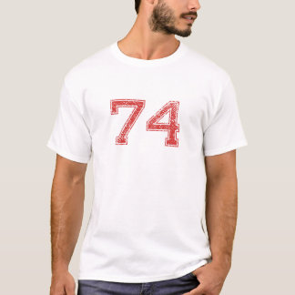 Red Sports Jerzee Number 74 T-Shirt