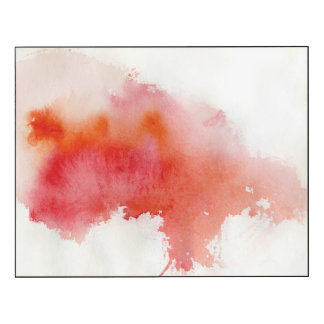 Red spot, watercolor abstract hand painted