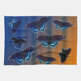 Red Spotted Purple Butterflies Tea Towel