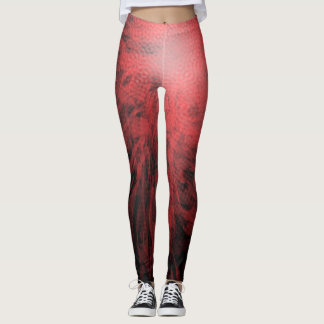 Red Spotted Spiral - Leggings