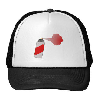 Red Spray Paint Can Trucker Hat
