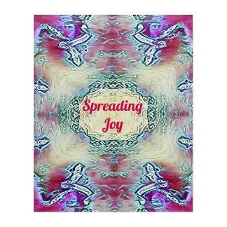 Red 'Spreading Joy' With Modern Rose White Art