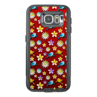 Red Spring Birds and Flowers OtterBox Samsung Galaxy S6 Case