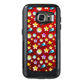 Red Spring Birds and Flowers OtterBox Samsung Galaxy S7 Case