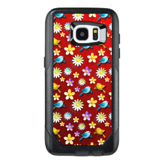 Red Spring Birds and Flowers OtterBox Samsung Galaxy S7 Edge Case