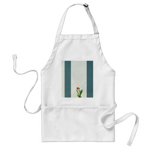 red spring flowers Apron