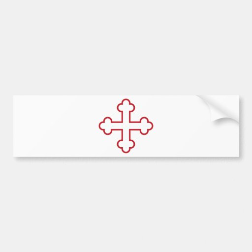 red square apostles cross or budded cross bumper stickers
