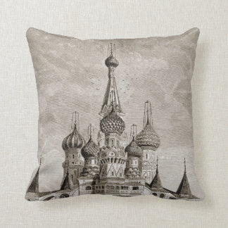 Red Square Cathedral Moscow Onion Dome Engraving Cushion