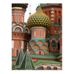 Red Square in Moscow, Russia.  Photographed on a Postcard