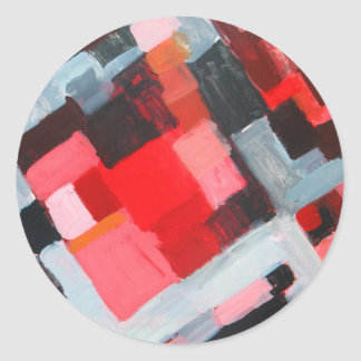 Red Square Residential District( expressionism) Round Sticker