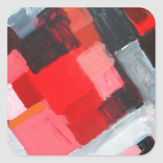 Red Square Residential District( expressionism) Sticker