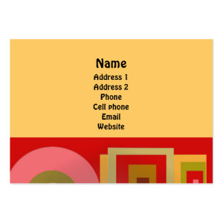 Red Squares and Circles Business Cards