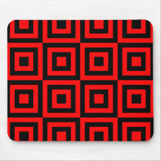 Red Squares Mouse Pad