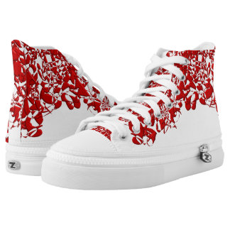 Red Squiggles High Tops