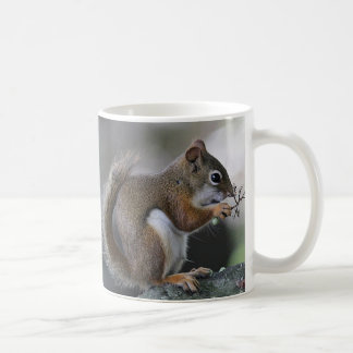 Red squirrel coffee mug