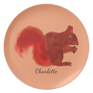 Red Squirrel Cute Woodland Animal Party Plates