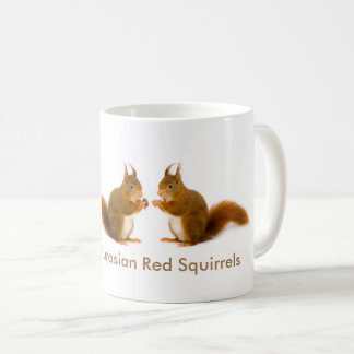 Red squirrel image for Classic White Mug