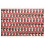 Red St Nicholas Krampus Fabric