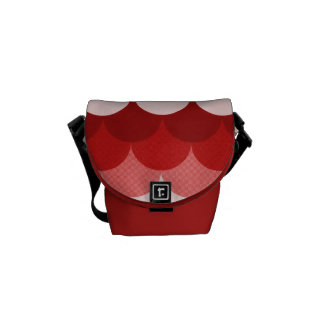 Red Stacked Circles Courier Bag