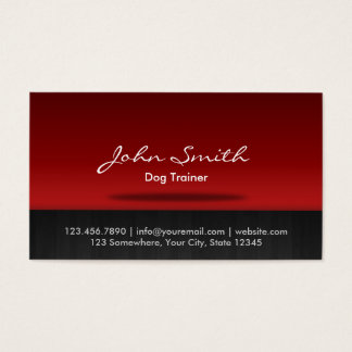 Red Stage Dog Training Business Card