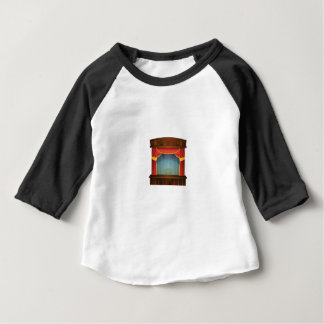 red stage open baby T-Shirt