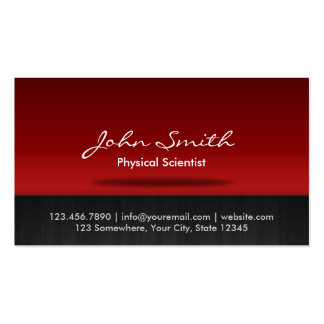 Red Stage Physical Scientist Business Card
