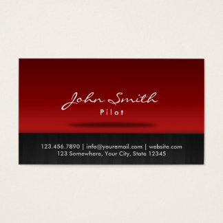 Red Stage Pilot/Aviator Business Card