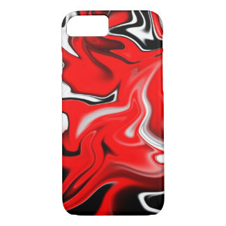 Red Stained iPhone 7 Case