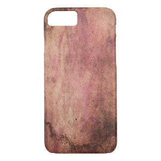Red stained & scuffed, grunge & dirty blood stains iPhone 7 case