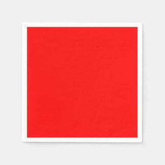 Red Standard Cocktail Paper Napkin