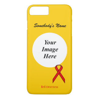 Red Standard Ribbon Template by Kenneth Yoncich iPhone 7 Plus Case
