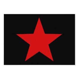 Red Star 13 Cm X 18 Cm Invitation Card