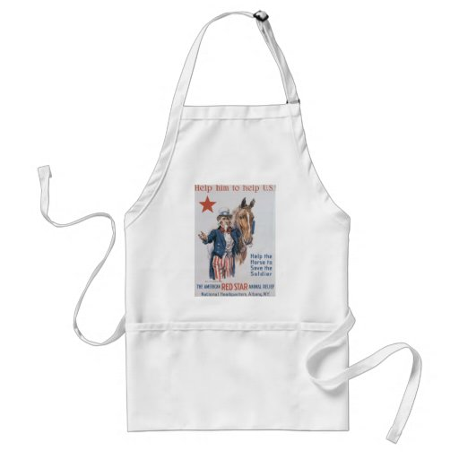 Red Star Animal Relief World War 2 Aprons