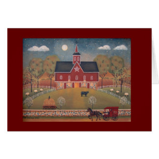 Red Star Barn Note Card