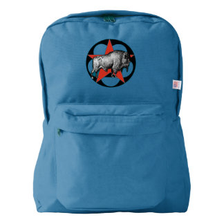 Red Star Buffalo Backpack