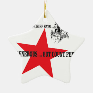 red star chief count pennies ceramic star decoration