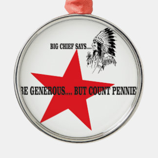 red star chief count pennies Silver-Colored round decoration