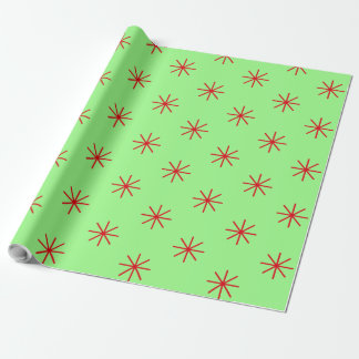 Red Star Christmas Wrapping Paper