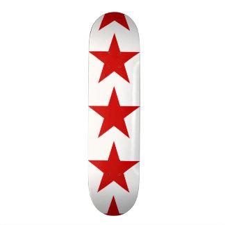 Red Star Custom Skate Board