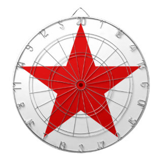 Red Star ★ Dartboard With Darts