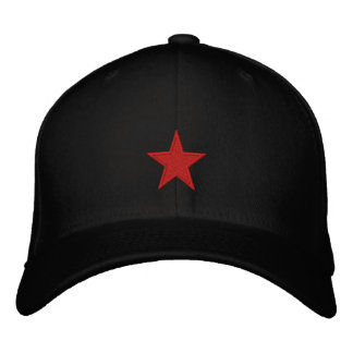 Red Star Embroidered Cap