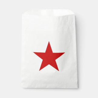Red Star Favour Bags